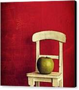 Chair Apple Red Still Life Canvas Print