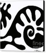 Chair Design In Black. 2013 Canvas Print by Cathy Peterson