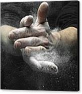Chalked Hands, High-speed Photograph Canvas Print