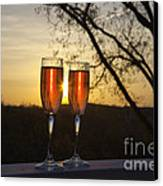 Champagne Sunset Canvas Print by Kay Pickens