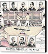 Champion Pugilists 1885 Canvas Print by Padre Art