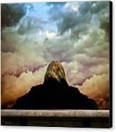 Chance Of Rain First Panel  No Umbrella Canvas Print by Bob Orsillo