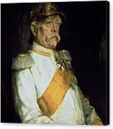 Chancellor Otto Von Bismarck Canvas Print by Franz Seraph von Lenbach