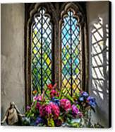 Chapel Flowers Canvas Print by Adrian Evans