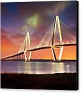 Charleston Sc - Arthur Ravenel Jr. Bridge Cooper River Canvas Print by Dave Allen
