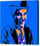 Charlie Chaplin 20130212m145 Canvas Print by Wingsdomain Art and Photography