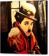 Charlie Chaplin Canvas Print by Jay Milo
