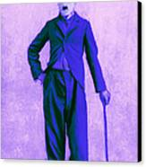 Charlie Chaplin The Tramp 20130216m60 Canvas Print by Wingsdomain Art and Photography