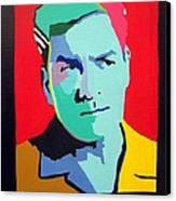 Charlie Sheen Winning Canvas Print