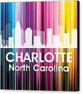 Charlotte Nc 2 Canvas Print by Angelina Vick