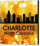 Charlotte Nc 3 Canvas Print by Angelina Vick