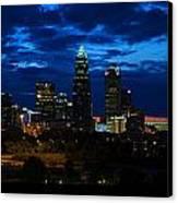 Charlotte North Carolina Panoramic Image Canvas Print by Chris Flees