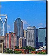 Charlotte Panorama Canvas Print
