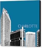 Charlotte Skyline 1 - Steel Canvas Print