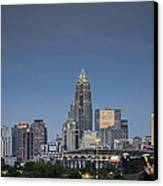 Charlotte Skyline - Clear Evening Canvas Print