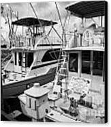 Charter Fishing Boats In The Old Seaport Of Key West Florida Usa Canvas Print