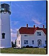 Chatham Light Canvas Print by Skip Willits
