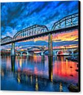 Chattanooga Sunset 3 Canvas Print