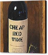 Cheap Red Wine Canvas Print