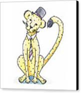 Cheetah In A Top Hat Canvas Print
