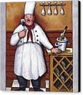 Chef 2 Canvas Print by John Zaccheo