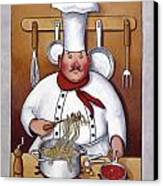 Chef 4 Canvas Print by John Zaccheo