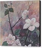Cherry Blossoms In The Cosmos Canvas Print by Sandy Clift