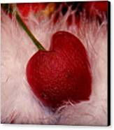 Cherry Heart Canvas Print