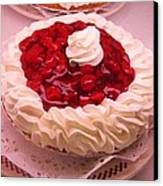 Cherry Pie With  Whip Cream Canvas Print
