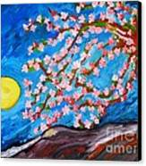 Cherry Tree In Blossom  Canvas Print by Ramona Matei