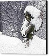 Cherub Of The Blizzard Canvas Print by Teak  Bird