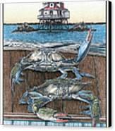 Chesapeake Bounty 1 Canvas Print by Jonathan W Brown