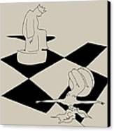 Chess And Art Canvas Print by Frida Kaas