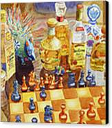 Chess And Tequila Canvas Print