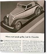 Chevrolet 1933 1930s Usa Cc Cars Canvas Print