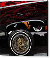 Chevrolet Caprice Lowrider - 5d20241 Canvas Print by Wingsdomain Art and Photography