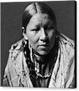 Cheyenne Young Woman Circa 1910 Canvas Print by Aged Pixel