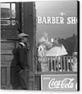 Chicago Barber Shop, 1941 Canvas Print
