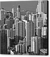 Chicago - Birds-eye-view Canvas Print by Christine Till
