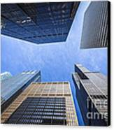 Chicago Buildings Upward View With Willis-sears Tower Canvas Print by Paul Velgos