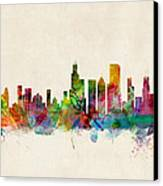 Chicago City Skyline Canvas Print by Michael Tompsett