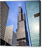 Chicago Downtown City Buildings With Willis-sears Tower Canvas Print