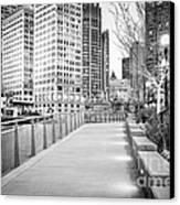 Chicago Downtown City Riverwalk Canvas Print