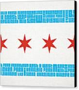 Chicago Flag Neighborhoods Canvas Print
