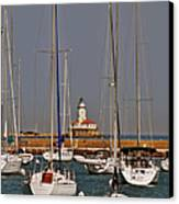 Chicago Harbor Lighthouse Illinois Canvas Print by Christine Till