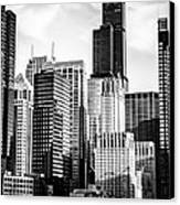 Chicago High Resolution Picture In Black And White Canvas Print by Paul Velgos