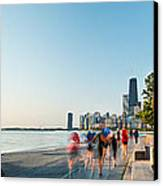 Chicago Lakefront Panorama Canvas Print by Steve Gadomski