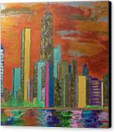 Chicago Metallic Skyline Canvas Print by Char Swift