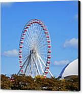 Chicago Navy Pier Ferris Wheel Canvas Print by Christine Till