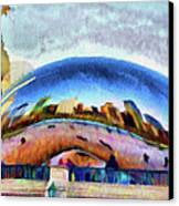 Chicago Reflected Canvas Print by Jeff Kolker